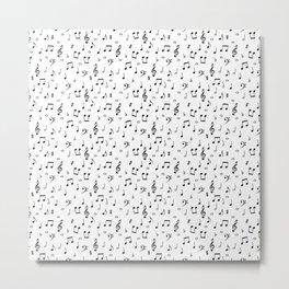 Musical pattern Metal Print