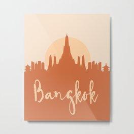 BANGKOK THAILAND CITY SUN SKYLINE EARTH TONES Metal Print