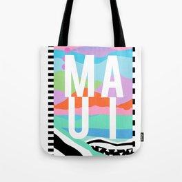 Maui Travel Poster Tote Bag