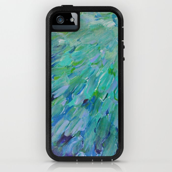 Society6 Sea Scales Beautiful Ocean Theme Peacock Feathers Mermaid Fins Waves Blue Teal Color Abstract Iphone Case By Ebiemporium Iphone Se Adventure Cas From Society6 Daily Mail
