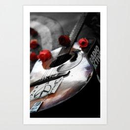 Guitar Strawberry Fields NYC Art Print