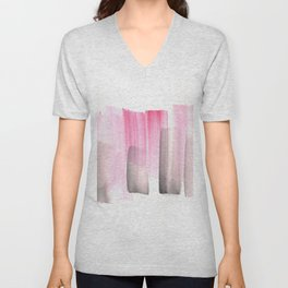 [161228] 25. Abstract Watercolour Color Study |Watercolor Brush Stroke Unisex V-Neck