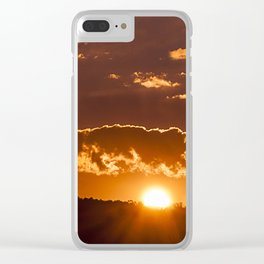 Sunset between clouds Clear iPhone Case