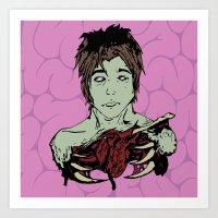 Inked Heart Art Print