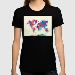 world map 105 #worldmap #map T-shirt