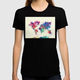 world map 105 #worldmap #map T-shirt