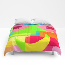 Abstract Geometry Face Comforters