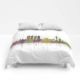 Madrid City Skyline HQ v5 Comforters