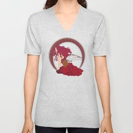 Autumn Fairy Nouveau Unisex V-Neck