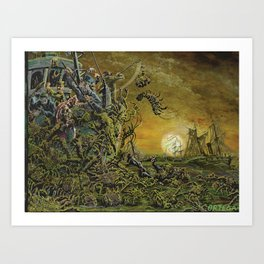 Night of the Weed Crabs Art Print