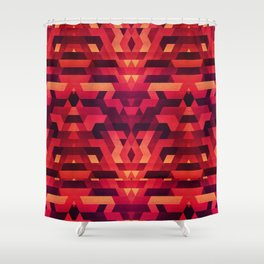 Abstract red geometric triangle texture pattern design (Digital Futrure - Hipster / Fashion) Shower Curtain