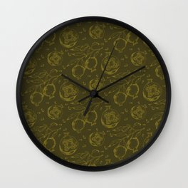 POMEGRANATES I x IV Wall Clock