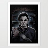 michael myers Art Prints featuring Halloween Michael Myers by Matt Mattei