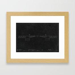 Morrison Bridge — Darkprint Framed Art Print