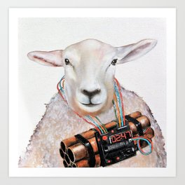 Sheep Fashionista Art Print