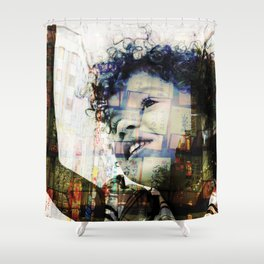 Felicia in Tokyo Shower Curtain