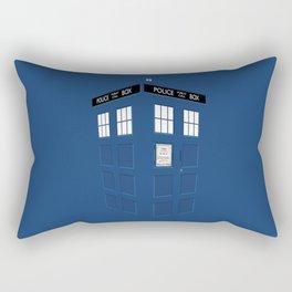 Tardis Blue Rectangular Pillow