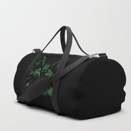 Space cat. cat's head flies out of space in the color spectrum. Duffle Bag