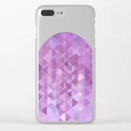 Purple Rain Clear iPhone Case