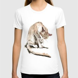 Cat, cat design cat lover, cat sketch T-shirt