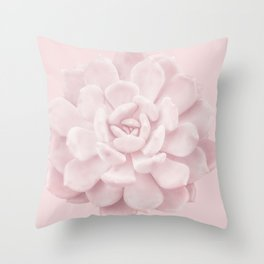 Blush Succulent 1 Throw Pillow