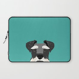 Schnauzer dog head cute gifts for schnauzers lovers dog breed art Laptop Sleeve