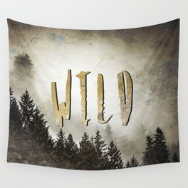 Wild Gold Forest Wall Tapestry
