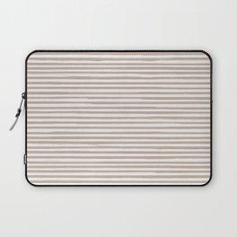Skinny Stroke Horizontal Nude on Off White Laptop Sleeve
