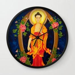 The Jewel in the Lotus Wall Clock