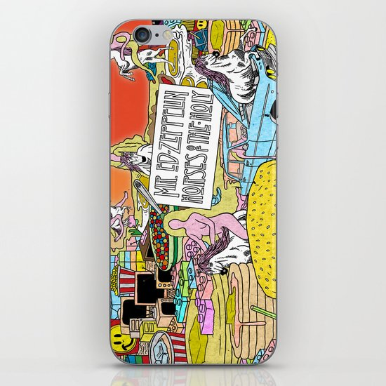 """Mr. Ed-Zeppelin - """"Horses of the Holy"""" by Steven Fiche iPhone Skin"""