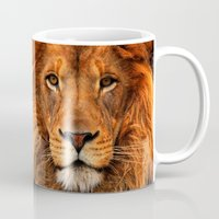 pocketfuel Mugs featuring BOLD AS LIONS by Pocket Fuel
