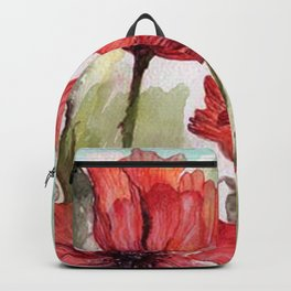 Red poppies 3 Backpack