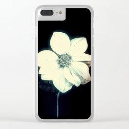 White Dahlia, Christmas Star Clear iPhone Case