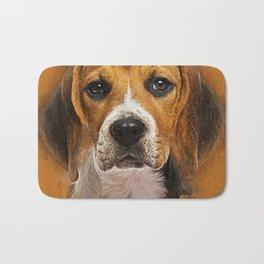 Beagle dog digital art Bath Mat