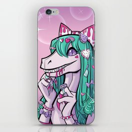 Dino Lolita Girl iPhone Skin