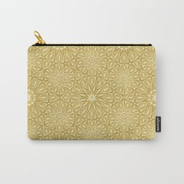 Rings of Flowers - Color: Naples Ochre Carry-All Pouch