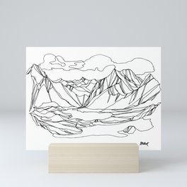Kootenay Alpine Lakes :: Single Line Mini Art Print