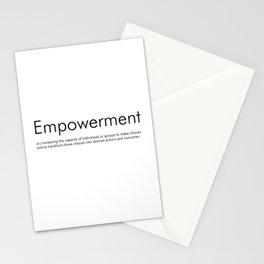 Empowerment (Definition) Stationery Cards