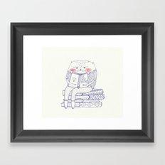 book cat Framed Art Print