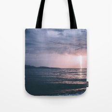 Lightning over the Strait of Georgia Tote Bag