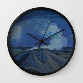 Canadian Landscape Oil Painting Franklin Carmichael Art Nouveau Post-Impression The Nickel Belt 1928 Wall Clock