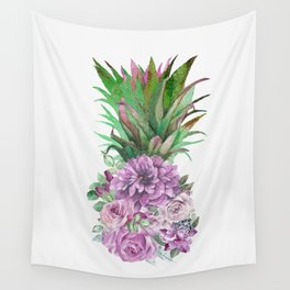 Floral Pineapple 1 Wall Tapestry