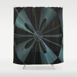 Geometric Cosmic Light 24 Shower Curtain