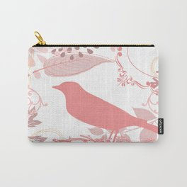 Vintage Look Pink Bird. Carry-All Pouch