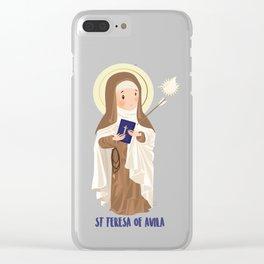 Saint Terese of Avila Clear iPhone Case