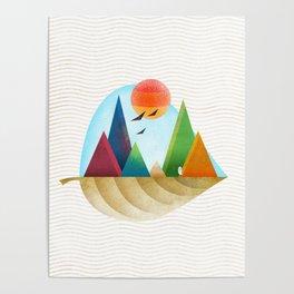 076 - Autumn leaf minimal landscape IV Poster