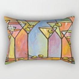 Martini Bar ... Abstract alcohol lounge bar kitchen art Rectangular Pillow