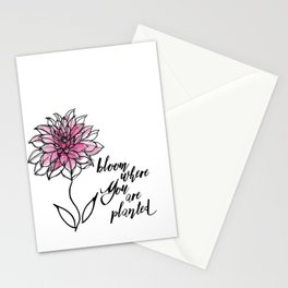 Bloom Where You are Planted Stationery Cards