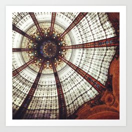 Parisian ceiling Art Print