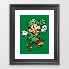 Lucky Mario Framed Art Print